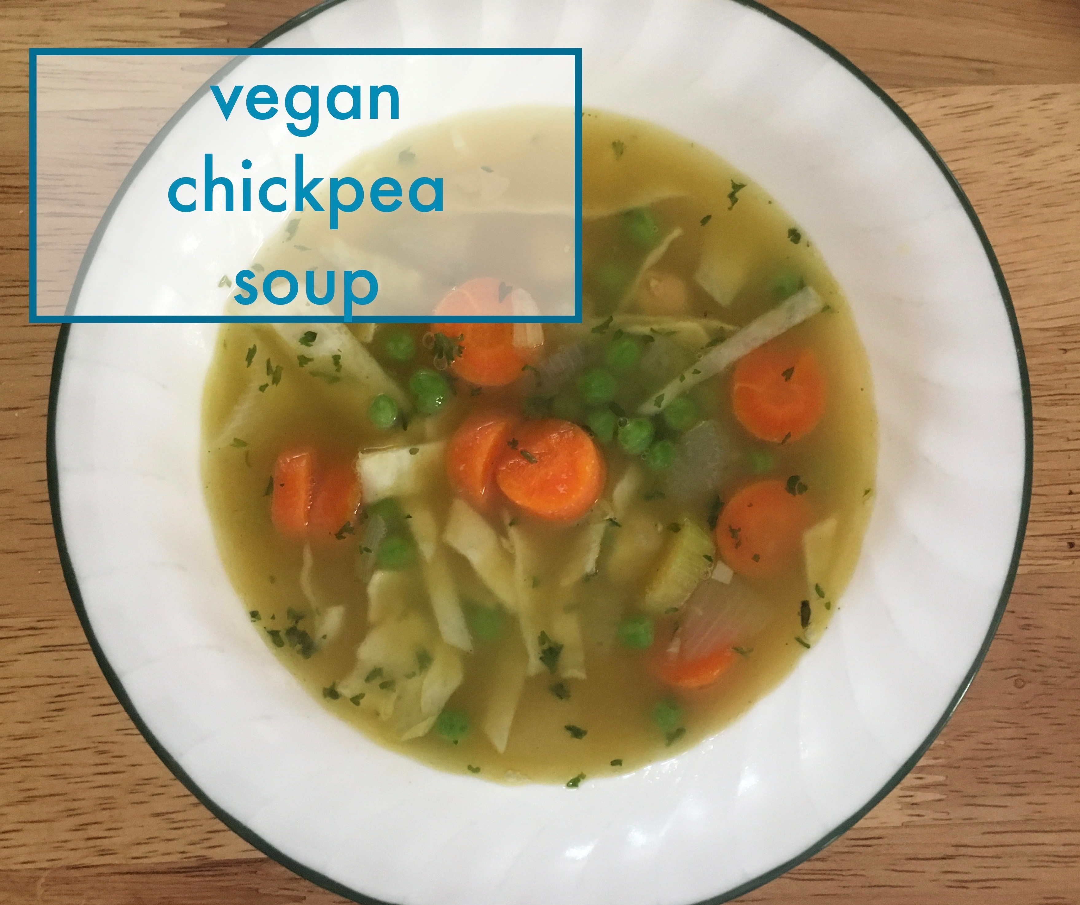 Vegan Chickpea Soup - quick and easy recipe on veganlumberjack.ca
